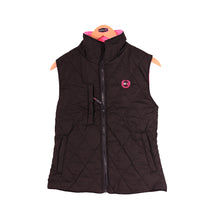 Load image into Gallery viewer, Womens Reversible High Vis Gilet - Black/Pink - Work Kit Girl