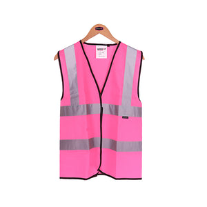 Womens Hi Vis Vest - Pink - Work Kit Girl