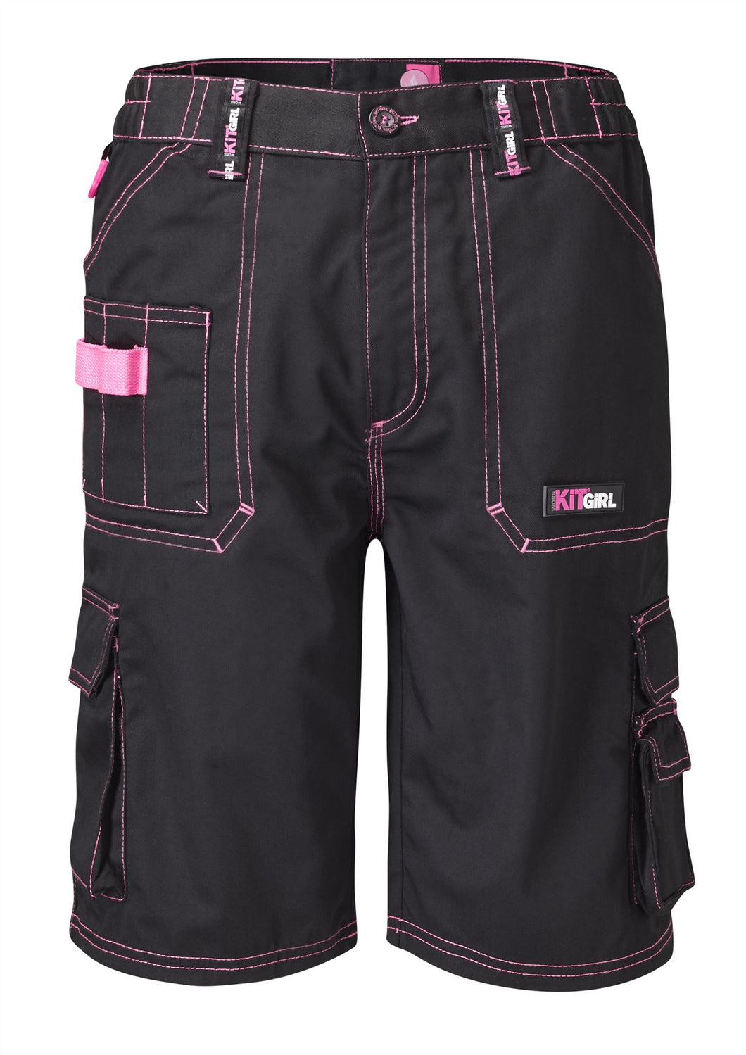 Womens Work Shorts - Black - Work Kit Girl