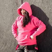 Load image into Gallery viewer, Womens Supersoft Fleece Hoodie - Pink - Work Kit Girl