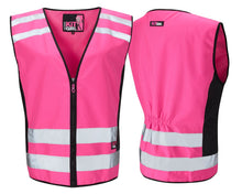 Load image into Gallery viewer, Womens See Me Hi Vis Pink Waistcoat/Vest - Pink - Work Kit Girl