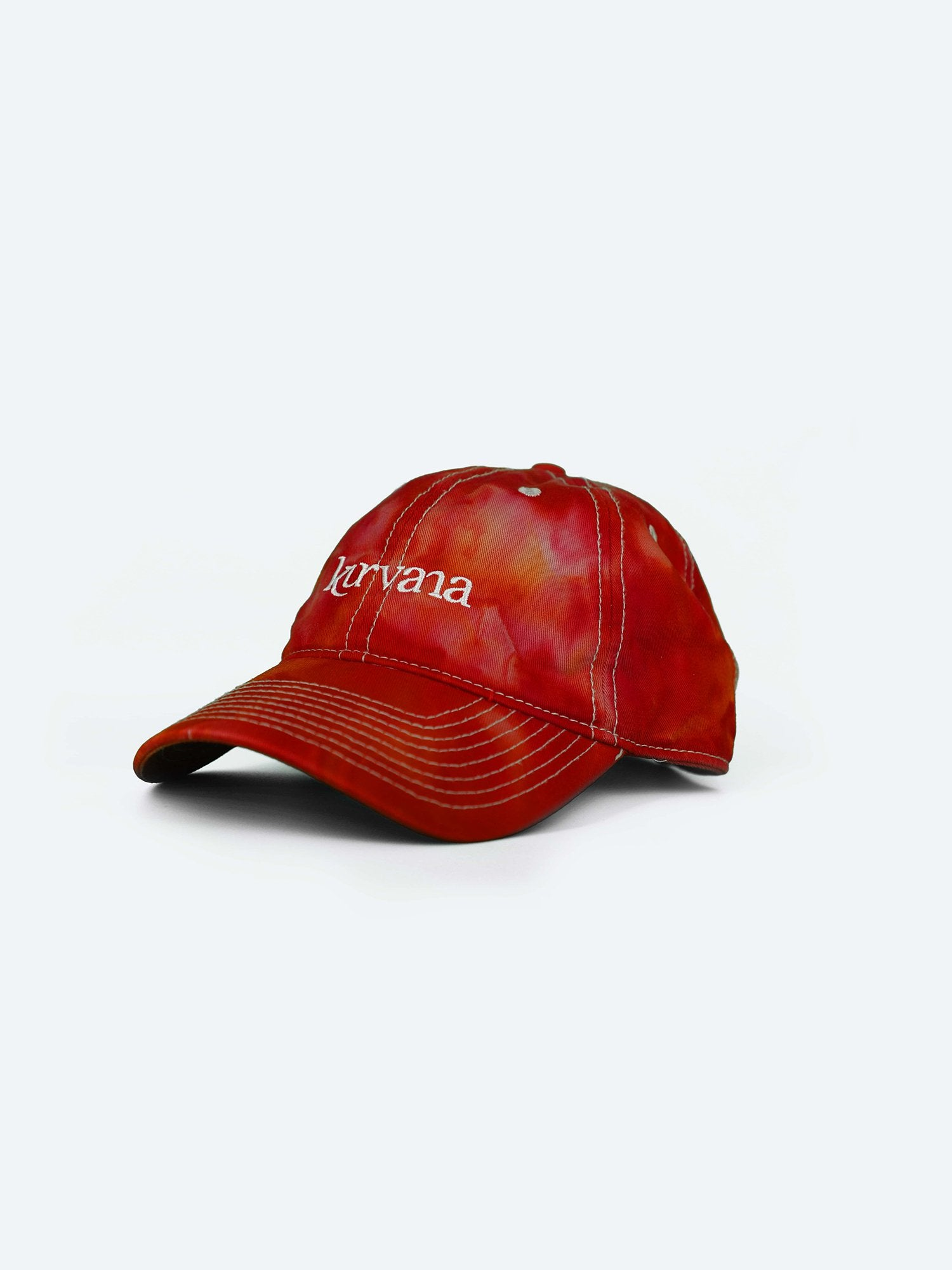 "Classic Kurvana ""Dad Hat"" - Red Tie-Dye - KurvanaCBD"