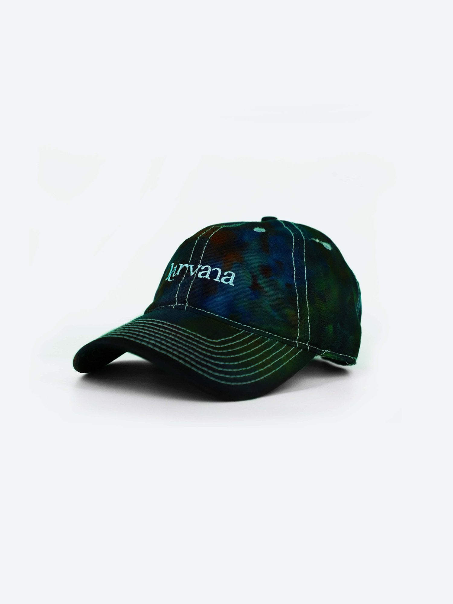 "Classic Kurvana ""Dad Hat"" - Dark Tie-Dye - KurvanaCBD"