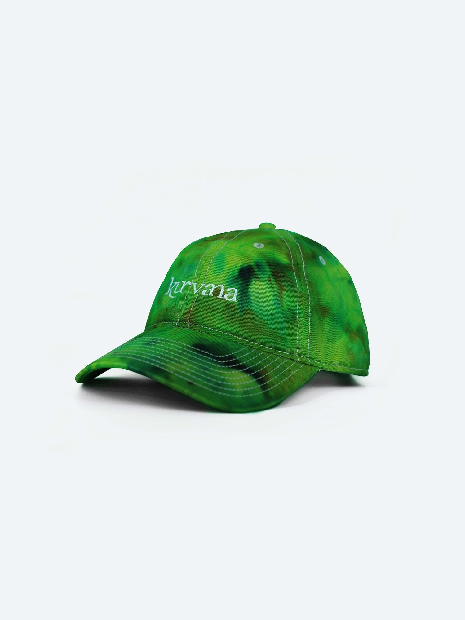 "Classic Kurvana ""Dad Hat"" - Green Tie-Dye - KurvanaCBD"