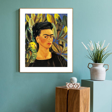 Self Portrait with Bonito, By Frida Kahlo
