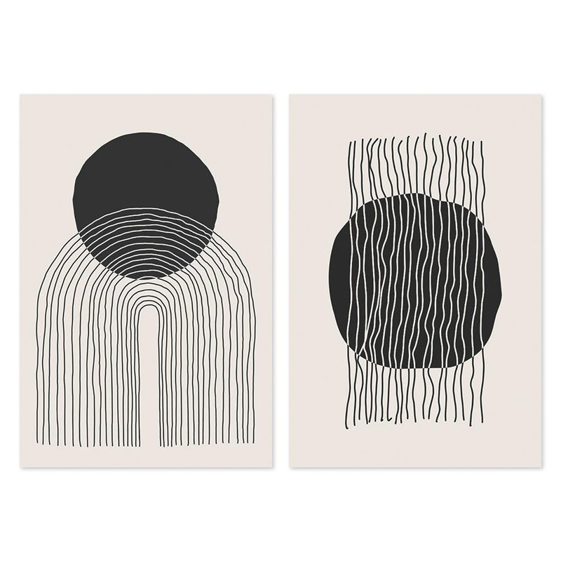 Wall-Art-Poster-Canvas-Framed-A Minimalists Dream, Set Of 2-Gioia Wall Art