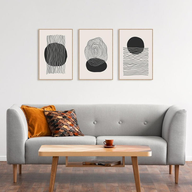 Wall-Art-Poster-Canvas-Framed-A Minimalists Dream, Set of 3-Gioia Wall Art