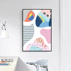 Wall-Art-Poster-Canvas-Framed-Abstract Art, Delightful Bright Colours, Style F-Gioia Wall Art