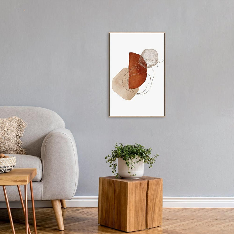 Wall-Art-Poster-Canvas-Framed-Abstract Shapes, Style A-Gioia Wall Art