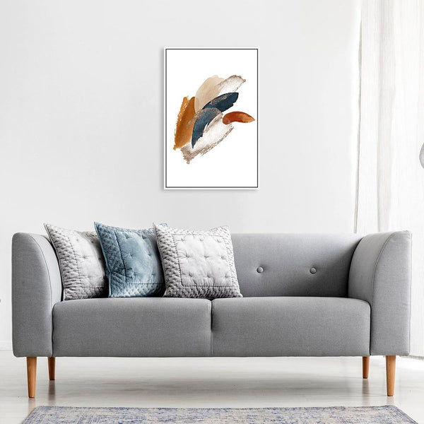 Wall-Art-Poster-Canvas-Framed-Abstract Shapes, Style B-Gioia Wall Art