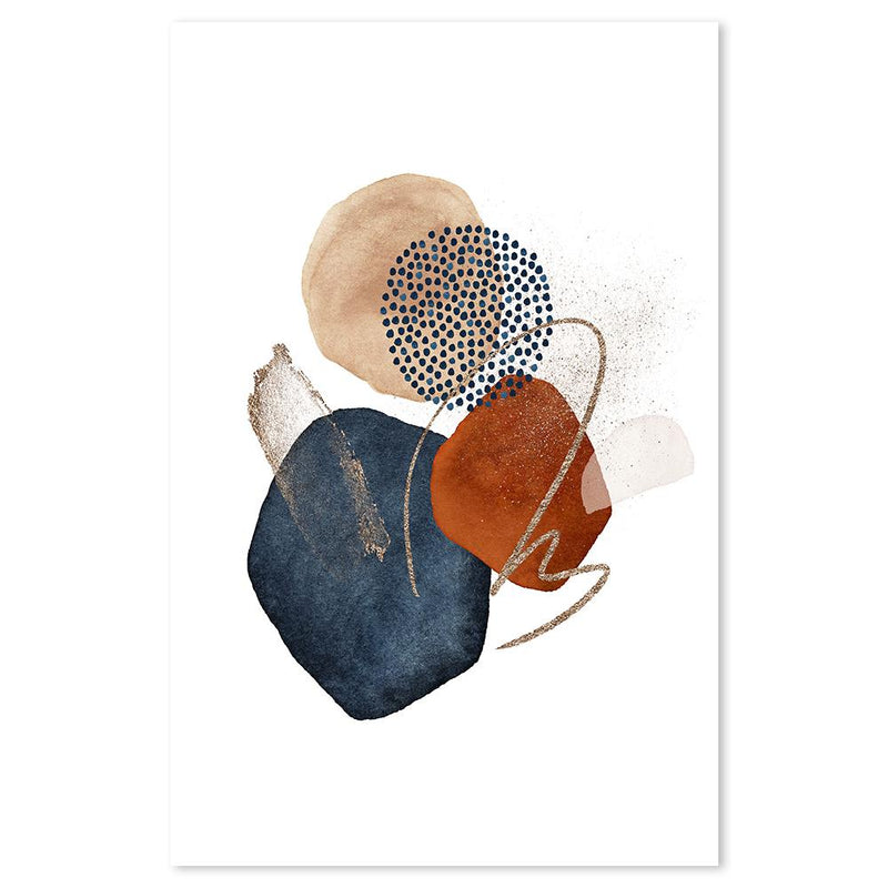 Wall-Art-Poster-Canvas-Framed-Abstract Shapes, Style C-Gioia Wall Art