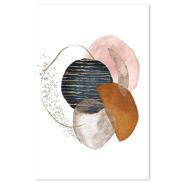 Wall-Art-Poster-Canvas-Framed-Abstract Shapes, Style D-Gioia Wall Art