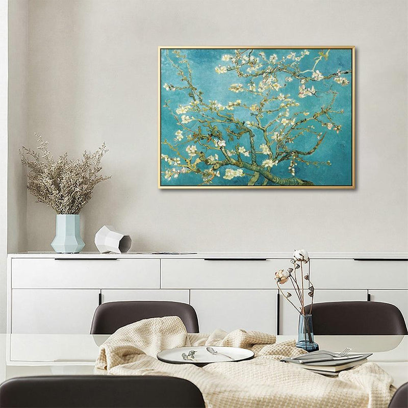 Wall-Art-Poster-Canvas-Framed-Almond Blossom, Van Gogh-Gioia Wall Art