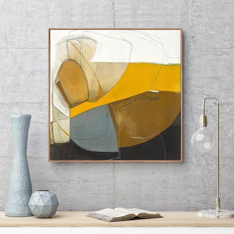 Wall-Art-Poster-Canvas-Framed-Amber Love, Abstract Art-Gioia Wall Art