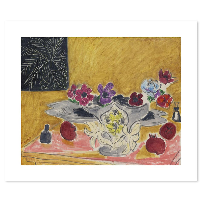 Wall-Art-Poster-Canvas-Framed-Anemones and Grenades, By Henri Matisse-Gioia Wall Art