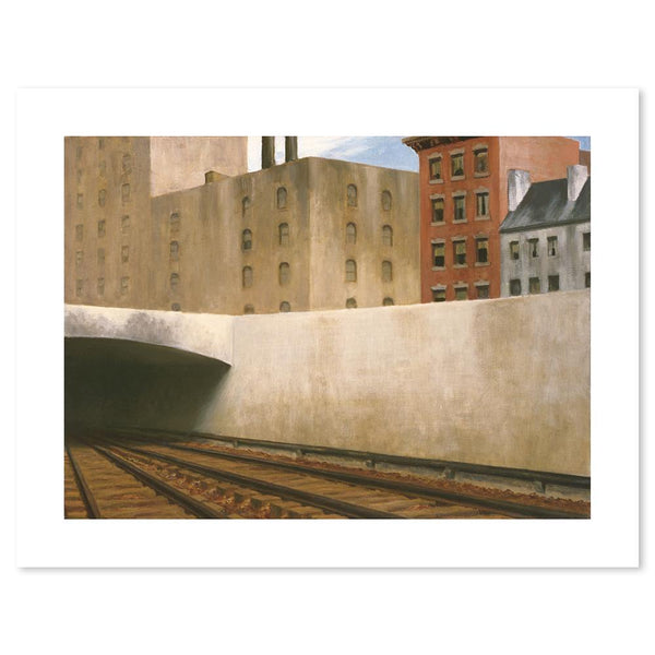 Wall-Art-Poster-Canvas-Framed-Approaching a City, By Edward Hopper-Gioia Wall Art