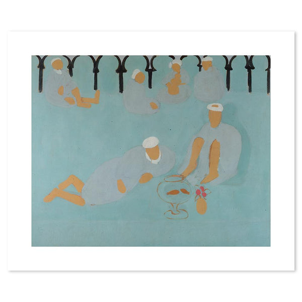 Wall-Art-Poster-Canvas-Framed-Arabian Coffee House, By Henri Matisse-Gioia Wall Art
