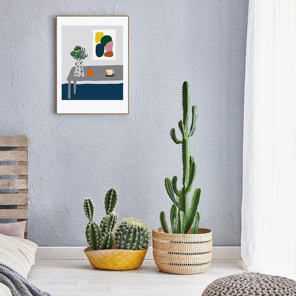 Wall-Art-Poster-Canvas-Framed-At the corner of the table-Gioia Wall Art