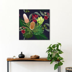 Wall-Art-Poster-Canvas-Framed-Australia native flower, banksia, waratah and protea-Gioia Wall Art