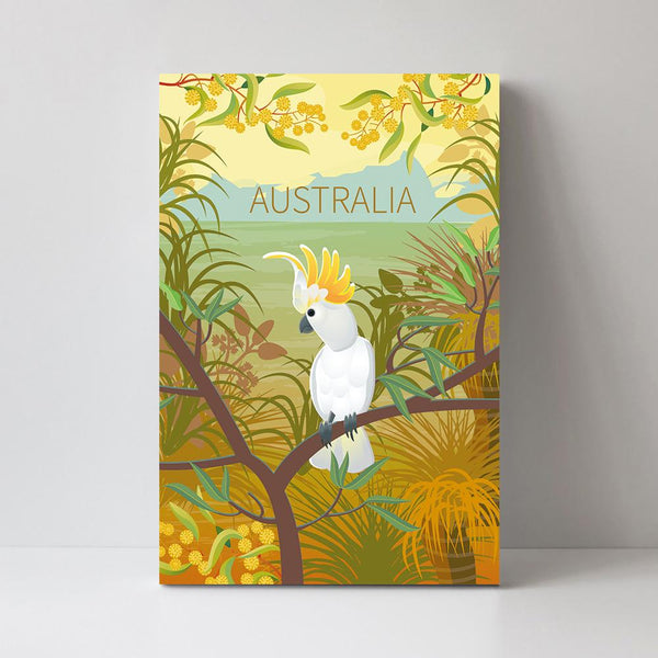 Wall-Art-Poster-Canvas-Framed-Australian Cockatoo-Gioia Wall Art