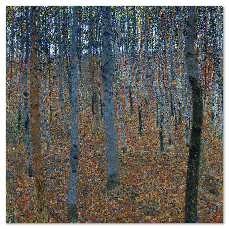 Wall-Art-Poster-Canvas-Framed-Beech Grove I, by Gustav Klimt-Gioia Wall Art