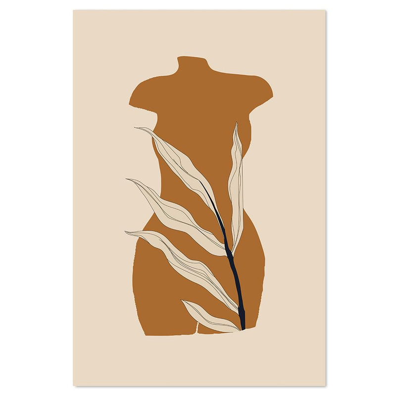 Wall-Art-Poster-Canvas-Framed-Black And Nude Series, Style C-Gioia Wall Art