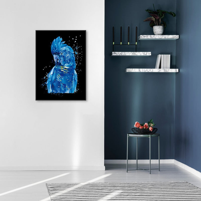 Wall-Art-Poster-Canvas-Framed-Blue Cockatoo-Gioia Wall Art