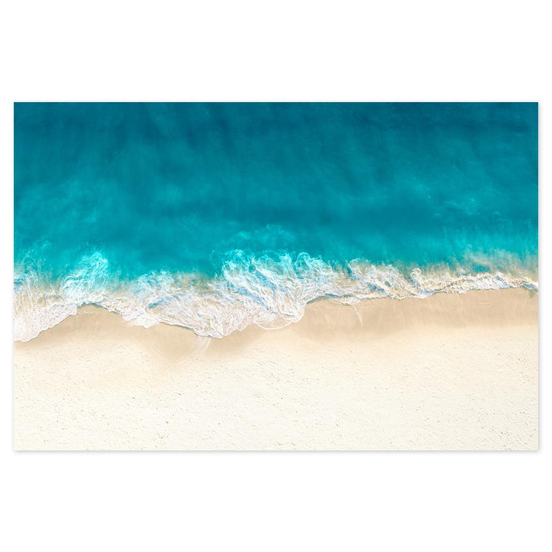 Wall-Art-Poster-Canvas-Framed-Blue waves and sandy beach-Gioia Wall Art