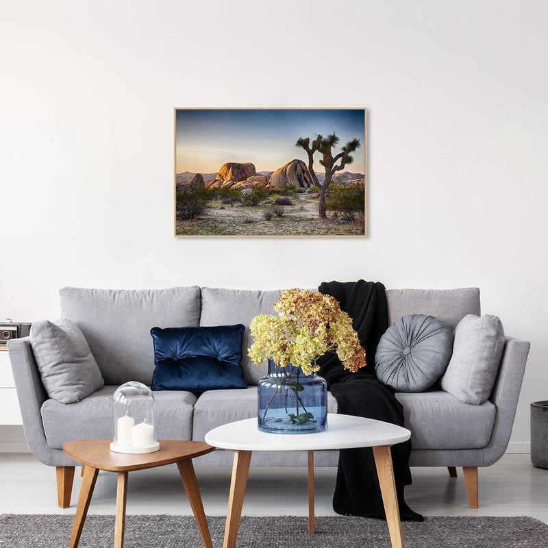 Wall-Art-Poster-Canvas-Framed-Boulders and Joshua Trees-Gioia Wall Art