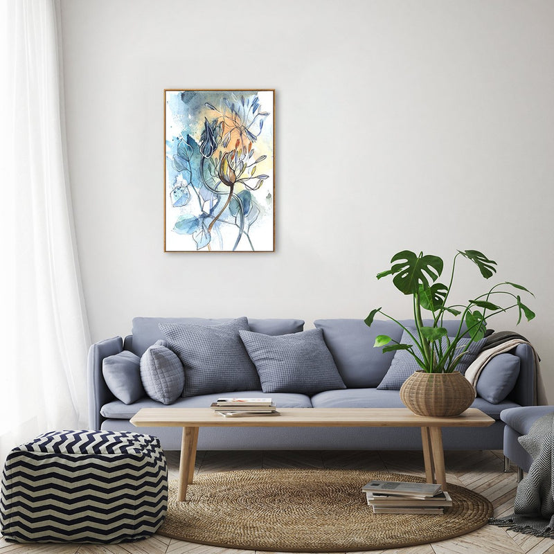 Wall-Art-Poster-Canvas-Framed-Breathe, Abstract Art, Watercolour Painting, Style A-Gioia Wall Art