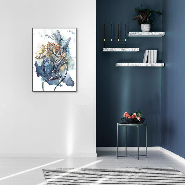 Wall-Art-Poster-Canvas-Framed-Breathe, Abstract Art, Watercolour Painting, Style B-Gioia Wall Art
