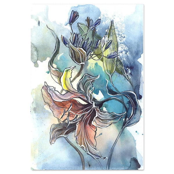 Wall-Art-Poster-Canvas-Framed-Breathe, Abstract Art, Watercolour Painting, Style C-Gioia Wall Art