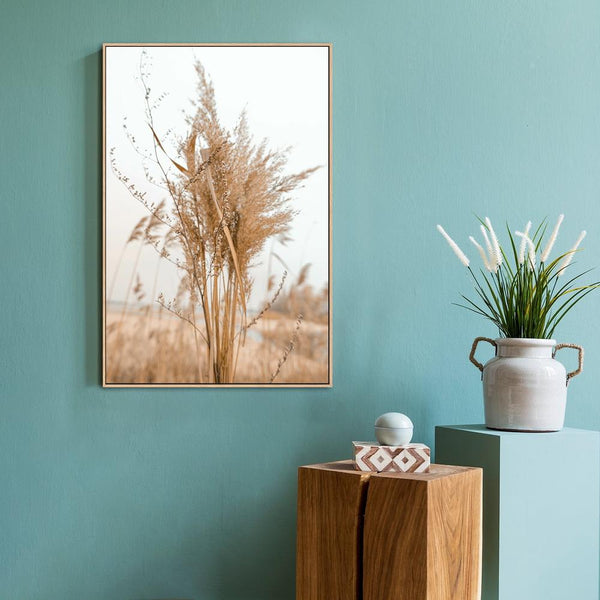 Wall-Art-Poster-Canvas-Framed-Bunch of Tan Reeds-Gioia Wall Art