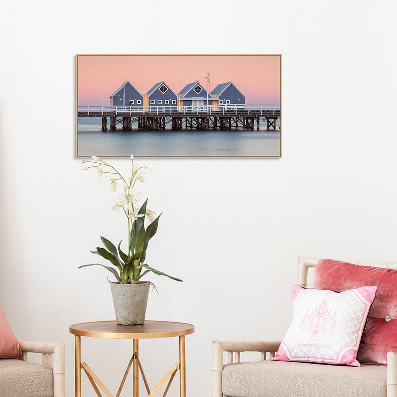 Wall-Art-Poster-Canvas-Framed-Busselton Jetty-Gioia Wall Art