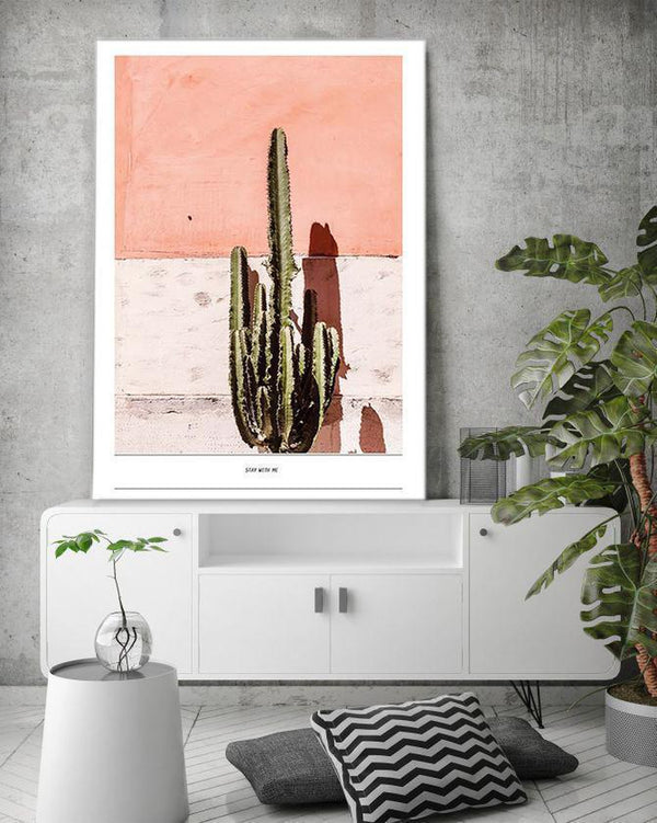 Wall-Art-Poster-Canvas-Framed-Cactus-Gioia Wall Art