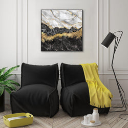 Wall-Art-Poster-Canvas-Framed-Canyon, Gold And Black-Gioia Wall Art