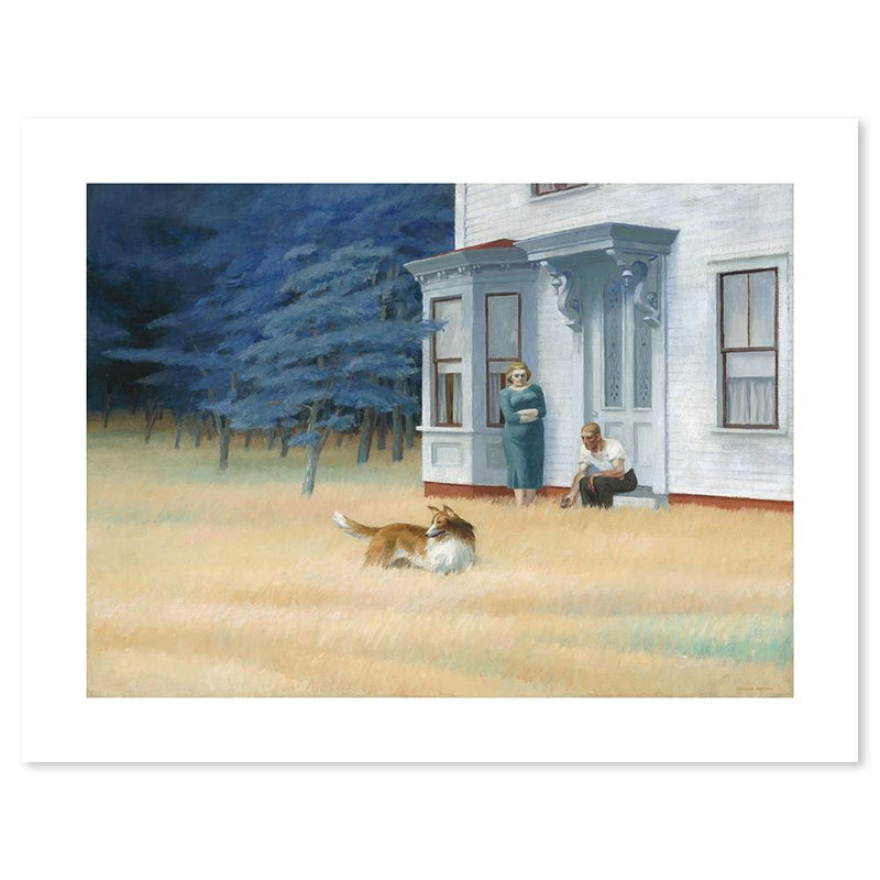 Wall-Art-Poster-Canvas-Framed-Cape Cod Evening, By Edward Hopper-Gioia Wall Art