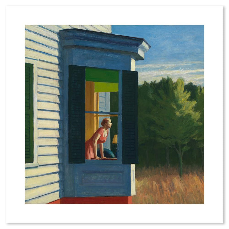 Wall-Art-Poster-Canvas-Framed-Cape Cod Morning, By Edward Hopper-Gioia Wall Art