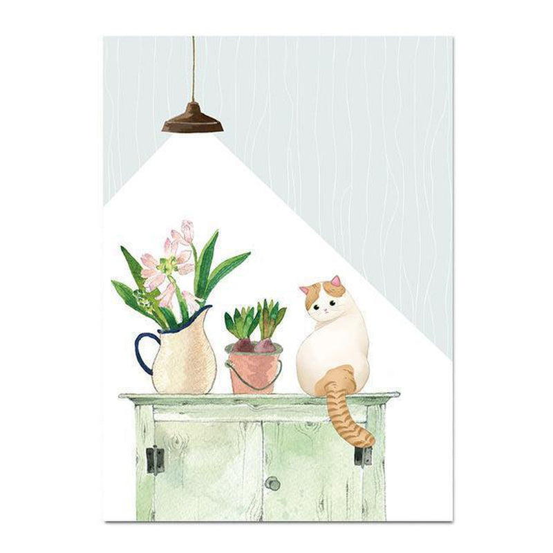 Wall-Art-Poster-Canvas-Framed-Cat On A Chest-Gioia Wall Art
