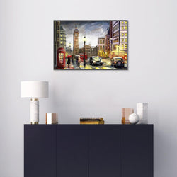 Wall-Art-Poster-Canvas-Framed-City street view, London-Gioia Wall Art