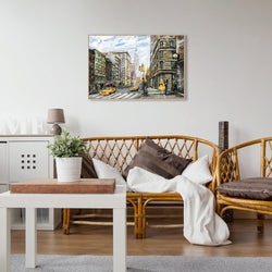 Wall-Art-Poster-Canvas-Framed-City street view, New York-Gioia Wall Art