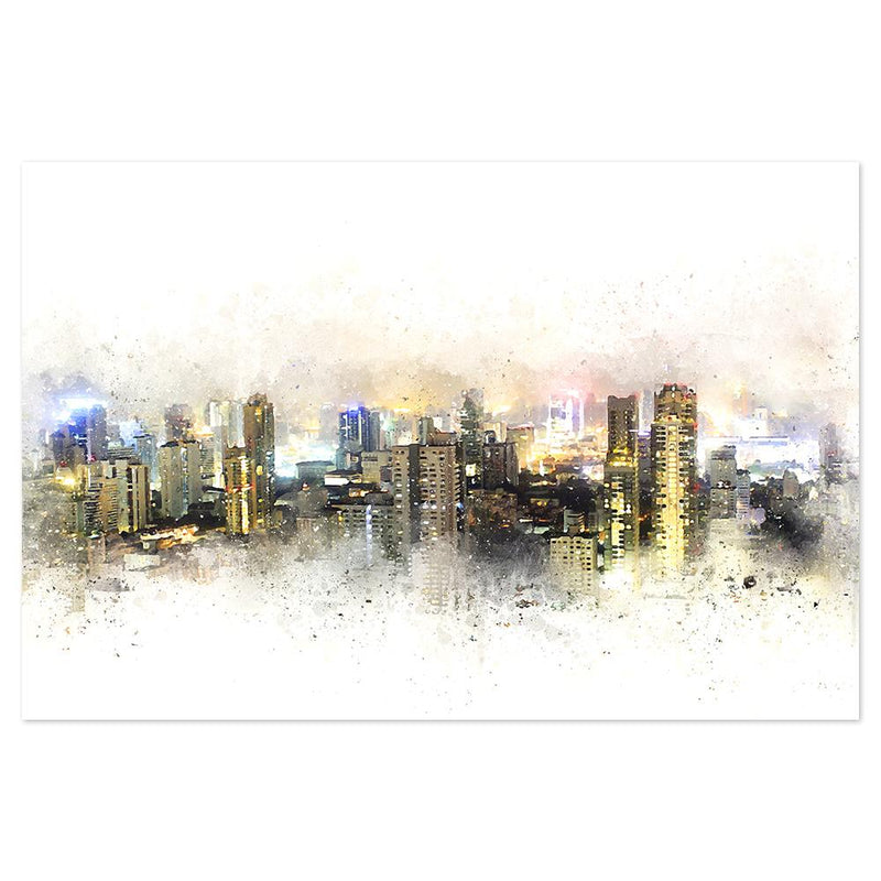 Wall-Art-Poster-Canvas-Framed-City view at Night-Gioia Wall Art