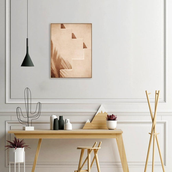 Wall-Art-Poster-Canvas-Framed-Clay Steps-Gioia Wall Art