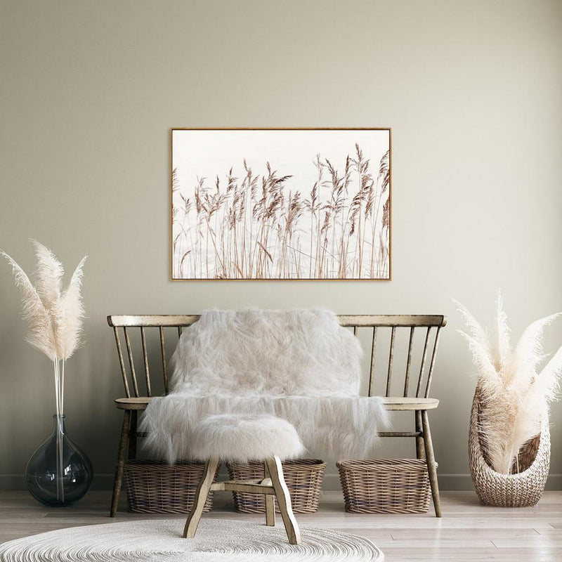 Wall-Art-Poster-Canvas-Framed-Coastal reed-Gioia Wall Art