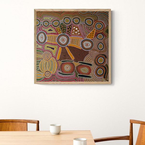 Wall-Art-Poster-Canvas-Framed-Cohesion, Aboriginal Art-Gioia Wall Art