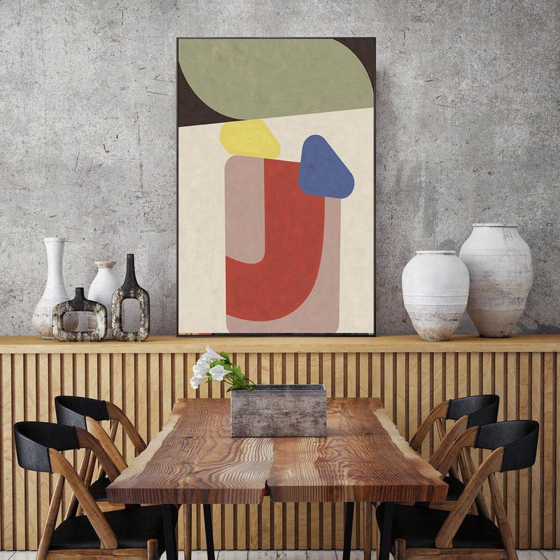 Wall-Art-Poster-Canvas-Framed-Colour Blocks, Abstract, Style A-Gioia Wall Art