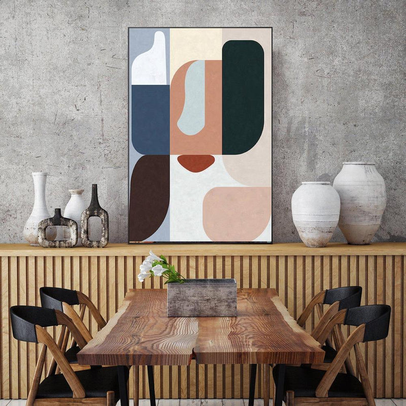Wall-Art-Poster-Canvas-Framed-Colour Blocks, Abstract, Style B-Gioia Wall Art