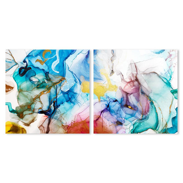 Wall-Art-Poster-Canvas-Framed-Colour Splash, Set of 2-Gioia Wall Art