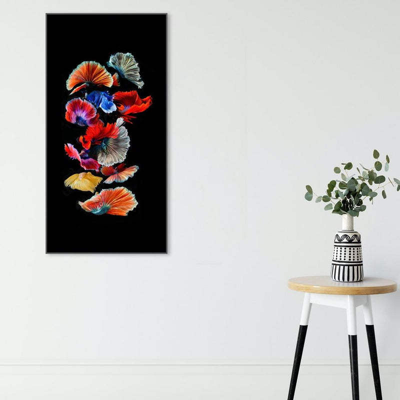 Wall-Art-Poster-Canvas-Framed-Colourful Goldfishes-Gioia Wall Art