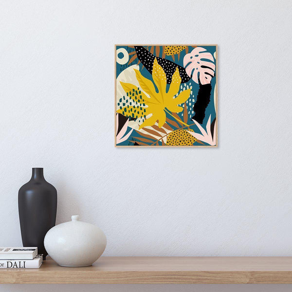 Wall-Art-Poster-Canvas-Framed-Colourful leaves-Gioia Wall Art